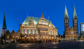 Town hall Bremen Germeny. Bremen town hall is 600 years Gothic style building in a norther town of Bremen Germany Royalty Free Stock Images