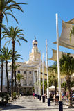 Town Hall building in Cadiz. Royalty Free Stock Images
