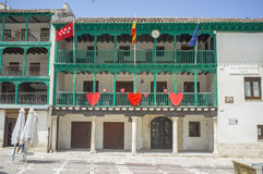 Town Hall building at main square of Chinchon, Madrid Stock Photography