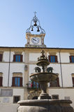 Town hall building. Ronciglione. Lazio. Italy. Stock Photos