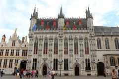 The Town Hall and the Burg Square, Bruges, Belgium Royalty Free Stock Photography