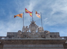 Town Hall or Casa de la Ciutat Barcelona Stock Image