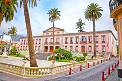Town hall in the center of La Orotava. Tenerife,  Spain Royalty Free Stock Photography
