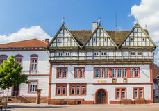 Town hall on the central square of Blomberg. Germany royalty free stock images