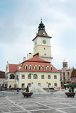 Town Hall  on the central square. Brashov, Romania Royalty Free Stock Photos