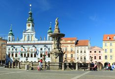 Town hall in Ceske Budejovice Stock Photo