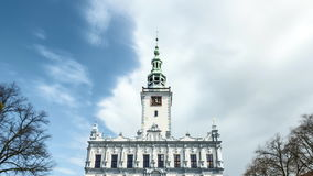 Town Hall in Chelmno in Poland - Time Lapse Video stock video