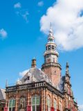 Town hall of Bolsward in Friesland, Netherlands. Town hall in city centre of Bolsward in province of Friesland, Netherlands Royalty Free Stock Image