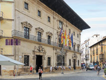 Town Hall of city Palma de Mallorca Royalty Free Stock Photography