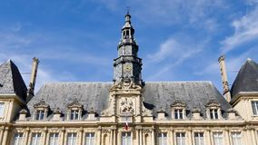 The town hall in the city of Reims. The Hôtel de ville is the town hall in the French city of Reims, in the city centre. Reims is a city located in the Grand stock video footage
