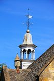 Town hall clock tower, Chipping Campden. Royalty Free Stock Photo