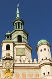 Town Hall clock tower. Poznan. Poland. Town Hall in Poznan old market square. Poland Royalty Free Stock Photography