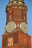 Town Hall Clock Tower in Wroclaw Stock Images
