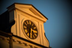 Town hall clock Stock Photos