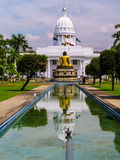 Town Hall in Colombo, Sri Lanka. The Town Hall in Colombo, Sri Lanka and a statue of Buddha seen from behind Stock Photos