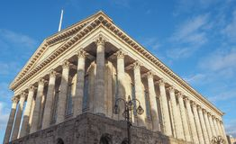 City Hall in Birmingham. Town Hall concert venue in Birmingham, UK royalty free stock photography