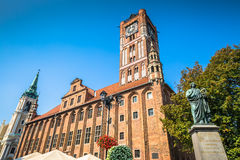 Town hall and Copernicus monument in Torun old town Poland Stock Photography