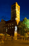 Town hall and Copernicus monument in Torun. TORUN, POLAND - SEPTEMBER 21: Town hall and Copernicus monument in Torun old town (Unesco world heritage site) Stock Image