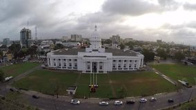 Town hall copter video stock video