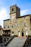 The Town Hall in Cortona city center Stock Photography