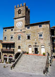 The town hall in Cortona, Tuscan , Italy Stock Photo