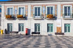 Town Hall decorated with azulejos portuguese tiles Royalty Free Stock Photography