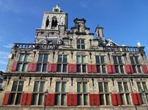 The town hall in Delft Stock Images