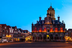 Town Hall of Delft, Netherlands Stock Photos