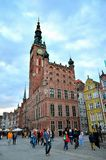 Town Hall at Dlugi Targ square. Royalty Free Stock Image
