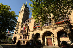 Town Hall in Duisburg. Duisburg city hall - front view Stock Image