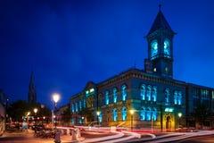 Town Hall. Dun Laoghaire. county Dublin. Ireland. County Council at night. Dun Laoghaire. county Dublin. Ireland Stock Photography