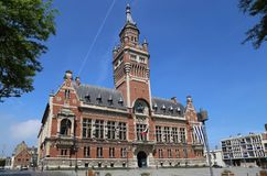 The town hall of Dunkirk, France. The town hall of Dunkirk and its belfry in France Stock Photos