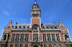 The town hall of Dunkirk, France. The town hall of Dunkirk and its belfry in France Royalty Free Stock Photo