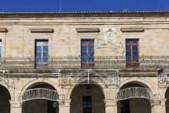 Town hall in Espinosa de los Monteros, Burgos Stock Photo