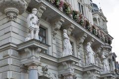 Town hall facade in Graz, Austria royalty free stock photo