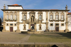 Town Hall. Former Convent of  Santa Clara. Guimaraes. Portugal Royalty Free Stock Photography