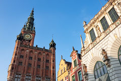 Town hall in Gdansk Stock Images