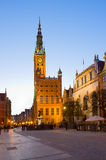 Town hall of Gdansk at night Stock Photography