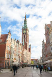 Town Hall in Gdansk, Poland Royalty Free Stock Images