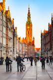 Town Hall in Gdansk, Poland Stock Images