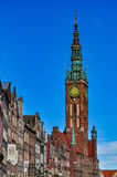 Town hall in Gdansk, Poland Stock Photography