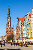 The Town hall in Gdansk Stock Photos
