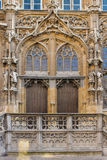 Town Hall. Gothic entrance. Ghent. Belgium Stock Photography