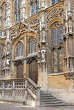 Town Hall. Gothic entrance. Ghent. Belgium. Gothic  facade of the Town Hall. Ghent. Belgium Stock Images