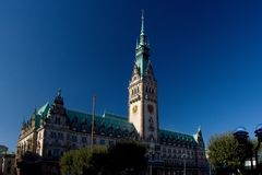 Town Hall in Hamburg Stock Images