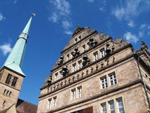 Town hall of hamelin, germany Stock Image
