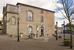 Town Hall. Athy. Kildare. Ireland. Town hall. Heritage centre with permanent exhibition on Ernest Shackleton . Athy. county Kildare. Ireland royalty free stock image