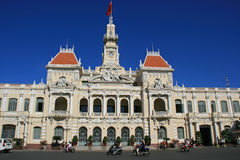 Town Hall - Ho Chi Minh Town - Vietnam. The facade of the town hall in Ho Chi Minh City (Vietnam Stock Photography