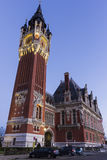 Town hall (Hotel de Ville) at Place du Soldat Inconnu in Calais Royalty Free Stock Photo