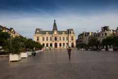 Town Hall, Hotel de Ville in Poitiers Royalty Free Stock Photos